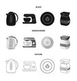 isolated object of kitchen and cook symbol set of vector image