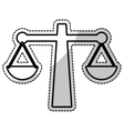 law scale icon vector image vector image