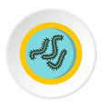 lot of bacteria icon circle vector image vector image
