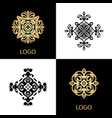 luxury logo template ornamental business sign vector image vector image
