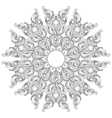 Mandala Coloring book page for adults and kids vector image vector image