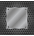 Metal Board vector image vector image