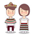 mexican children boy girl vector image