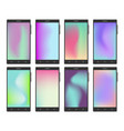 mobile phone set with gradient mesh wallpapers vector image vector image