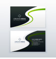 modern business card design with wavy effect vector image vector image
