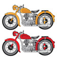 motorcycle vintage style vector image