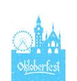 Oktoberfest card vector image
