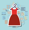 online shopping commerce vector image