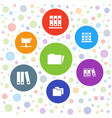 organize icons vector image vector image