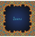 Ornate frame border with a lot of copyspace vector image vector image