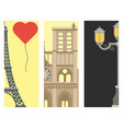 paris icons famous love travel cuisine vector image vector image