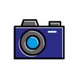 photograph camera lens flash device studio vector image vector image