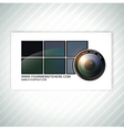 photographer business card template vector image vector image