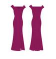 purple elegant dress vector image vector image