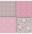 Romantic style pink pattern set vector image vector image