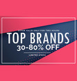 sale discount voucher template design poster vector image vector image