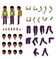 schoolboy creation set - little african boy vector image vector image