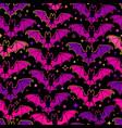 seamless pattern bright soaring bats vector image vector image