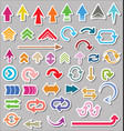 set arrow shapes isolated on gray background vector image