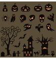 Set Of Halloween Elements vector image vector image