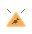 sign board traffic kangaroo australia icon on vector image
