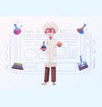 smart scientist character cartoon vector image