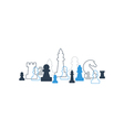 Strategy game chess background vector image vector image