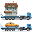 Trailer with House and Car vector image
