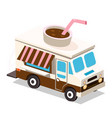 truck coffee van vector image