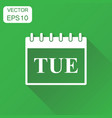 tuesday calendar page icon business concept vector image vector image
