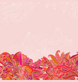 vintage background with floral vintage pattern vector image vector image
