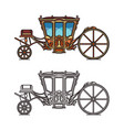 vintage royal chariot or retro buggy for wedding vector image vector image