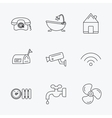 Wifi vide camera and mailbox icons vector image vector image