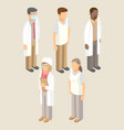 medical workers set of men and women vector image