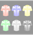 blank colorful cotton t shirt vector image