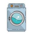 wash machine isolated icon vector image