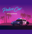 80s retro neon gradient background vintage police vector image vector image