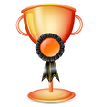A worldcup trophy with a black ribbon vector image vector image