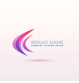 abstract curve logo concept design vector image