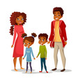 afro american family vector image vector image