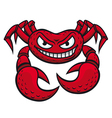 angry red crab vector image vector image