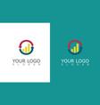 arrow change trade business logo vector image vector image