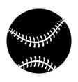 baseball equipment cartoon vector image