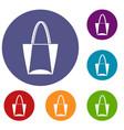 big bag icons set vector image vector image
