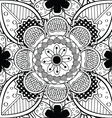 Black And White Lace Endless Seamless Pattern vector image vector image