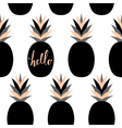 Black Pineapples Pattern vector image