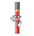 businessman lip gloss isolated in the mascot vector image