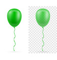 celebratory green transparent balloons pumped vector image vector image