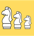 chess figure horse on a yellow background vector image vector image