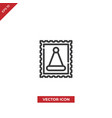 christmas stamp icon vector image